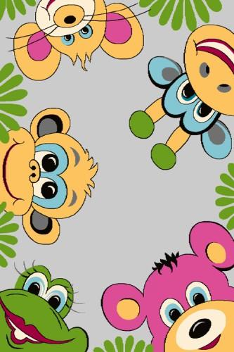 Dywan Do Przedszkola 160x220 Dżungla Grafitowy